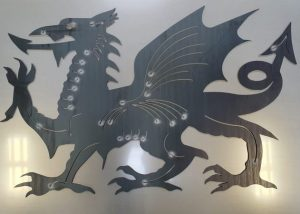 Welsh dragon laser cut