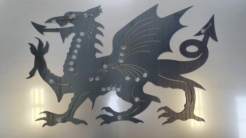 Welsh dragon laser cut